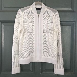 Topshop Sheer Geometric Jacket